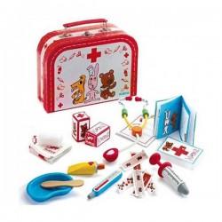 BOBODOUDOU valigetta del dottore pronto soccorso per pupazzi Djeco DJ06555