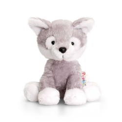 PELUCHE CANE HUSKY 14 cm Pippins Keel Toys CLASSICO pupazzo bambola pet