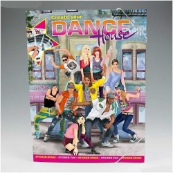 ALBUM CREA LA TUA DANCE HOUSE create your TOP MODEL adesivi stickers Topmodel DEPESCHE creativo da colorare
