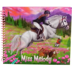 ALBUM Miss Melody 3D da colorare VESTI IL TUO CAVALLO decora CREA depesche STICKERS TATTILI