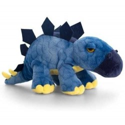 PELUCHE stegosauro DINOSAURO stegosaurus KEEL TOYS 25 cm BLU pupazzo bambola FATTO A MANO