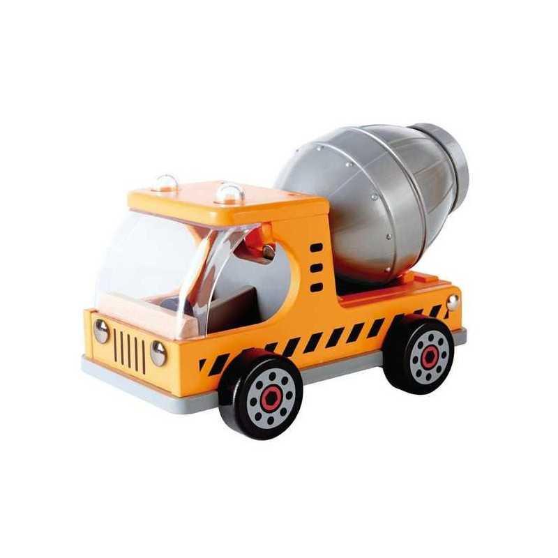 CAMION BETONIERA in legno HAPE truck MEZZI DA LAVORO ruspa MACCHINA trattore 3 ANNI +