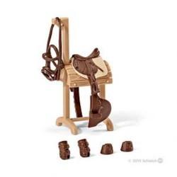 ACCESSORI CONCORSO IPPICO SET GRANDE animali in resina SCHLEICH cavalli 42200 miniature FARM LIFE età 3+