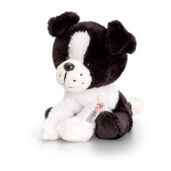 PELUCHE BORDER COLLIE cane 14 cm Pippins Keel Toys CLASSICO pupazzo bambola pet