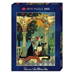 Puzzle NEW ARCADE Heye 29720 1000 pezzi gatti ROSINA WACHTMEISTER 50x70 cm