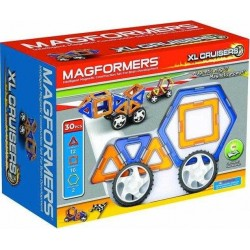 MAGFORMERS Set XL CRUISERS 30 PZ mezzi su ruote COSTRUZIONI magnetiche 3D età 6+