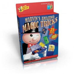 Marvin's Magic AMAZING TRICKS Made Easy 25 TRUCCHI MAGICI magia KIT prestigiatore ROSSO 3 illusionista 6+