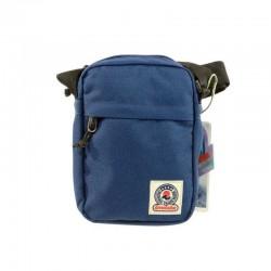 Fresh MINI Shoulder BAG Office INVICTA tinta unita BLU scomparto tasca zip TRACOLLA