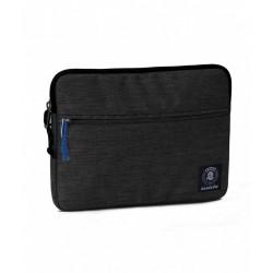 Tablet sleeve SMALL Office INVICTA tinta unita NERO tasca zip CUSTODIA busta IPAD