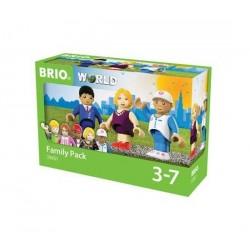 FAMILY PACK pacchetto famiglia BRIO 3 personaggi SET miniature 33951 età 3+