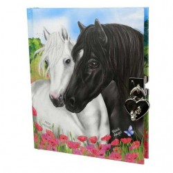 DIARIO SEGRETO cavalli MISS MELODY con lucchetto e chiavi DEPESCHE copertina morbida