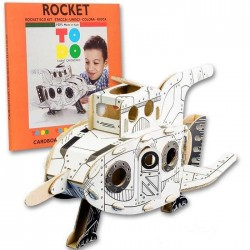 ROCKET To Do RAZZO in cartone DA MONTARE e colorare 45 PEZZI kit 100% MADE IN ITALY 4+