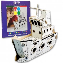 SHIP To Do NAVE in cartone DA MONTARE e colorare 54 PEZZI kit 100% MADE IN ITALY 4+