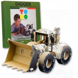 DIGGER To Do RUSPA in cartone DA MONTARE e colorare 135 PEZZI kit 100% MADE IN ITALY 6+