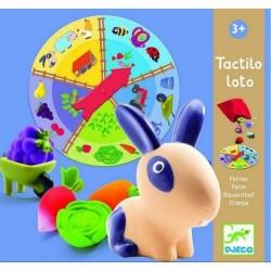 TACTILO LOTO gioco FATTORIA tattile DJECO tombola 15 FORME 5 habitat DJ08135 età 3+