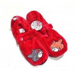 PANTOFOLE LOVE CATS Nici PELUCHE babbucce TAGLIA EUR 39 - 42 UK 6 - 8 Waldmuller ROSSE ciabatte