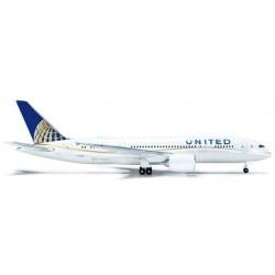 UNITED AIRLINES BOEING 787-8 DREAMLINER HERPA WINGS 523837 scala 1:500 model