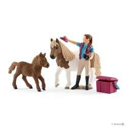 Set STALLIERE CON SHETTY horse club SCHLEICH cavalli in resina 42362 donna PONY età 5+