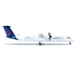 BRUSSELS AIRLINES BOMBARDIER Q400 HERPA WINGS 523301 scala 1:500 model