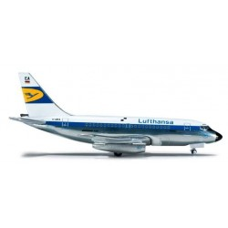 LUFTHANSA EXPERIMENTAL COLORS BOEING 737-100 HERPA WINGS 523332 scala 1:500 model