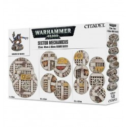 52 INDUSTRIAL BASES Sector Mechanicus BASETTE 32 40 65 mm GAMES WORKSHOP Warhammer CITADEL 40k 12+