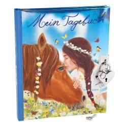 DIARIO SEGRETO cavallo Pelly e Lily MISS MELODY con lucchetto e chiavi DEPESCHE copertina morbida