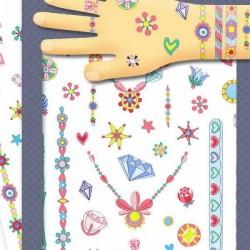 TATUAGGI GIOIELLI DI JENNY tattoo per bambini DJECO 9587 rimuovibili con acqua
