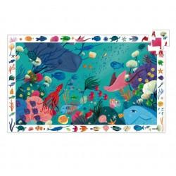 Puzzle scoperta OBSERVATION 54 PEZZI Animali del mare con poster età dai 4 anni