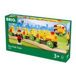 TRENO DEI DIVERTIMENTI trenino BRIO treni in legno 33741 plastica LUNA PARK fun train 3+