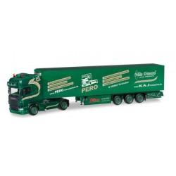 SCANIA R TL REFRIGERATED BOX TRAILER KAJ Herpa 304221 Auto Trucks Camion scala 1:87 model