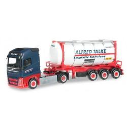 VOLVO FH GI SWAPCONTAINER SEMITRAILER TALKE Herpa 304016 Auto Trucks Camion scala 1:87 model