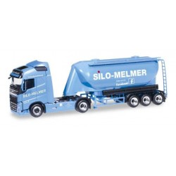 VOLVO FH GI BULK SILO SEMITRAILER MELMER Herpa 304771 Auto Trucks Camion scala 1:87 model