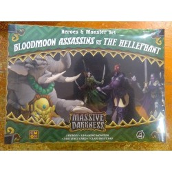 BLOODMOON ASSASSINS VS THE HELLEPHANT MASSIVE DARKNESS Expansion Heroes Boss CoolMiniOrNot