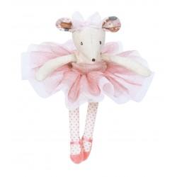 TOPO ballerina CON TUTU in scatola PELUCHE Moulin Roty PUPAZZO morbido DANZA il etait une fois 2+