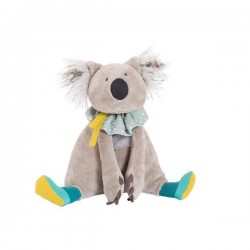 GABIN il koala MOULIN ROTY peluche BAZAR pupazzo GRIGIO morbido 10 MESI +