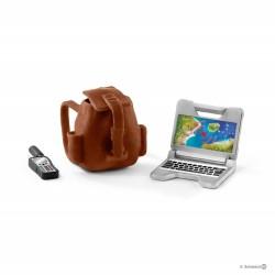 Set TECNOLOGIA RANGER Schleich DIORAMA kit da gioco WILD LIFE jungle 42355 miniature animali in resina 3+