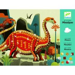 MOSAICO kit artistico DINOSAURI arte al numero DJECO DJ08899 lucente ADESIVI età 4+