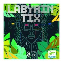 LABIRINTIX gioco di società OSSERVAZIONE E RAPIDITA' Djeco DJ08487 con 4 totem SEGUI LE FRECCE età 8+