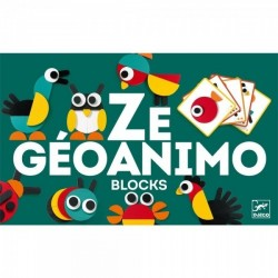 Costruzioni ZE GEOANIMO BLOCKS in legno DJECO con suggerimenti DJ06432 età 3+