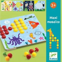 MOSAICO MAXI kit artistico 8 TAVOLE gioco DJ08141 pedine colorate DJECO età 3+