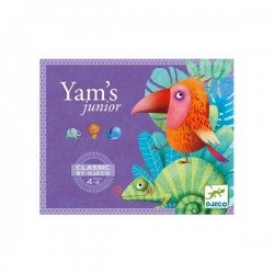 YAMS junior CLASSIC yahtzee DJECO gioco DJ05209 in legno DADI E SCHEDE combinazioni 4+