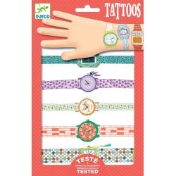 TATTOOS tatuaggi OROLOGI di Wendy RIMUOVIBILI unisex DJECO 14 tatuaggi DJ09588 età 3+