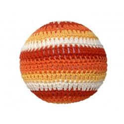 PALLA MORBIDA ARANCIONE rattle ball XXL all'uncinetto FATTA A MANO a barcellona APUNT handmade DA 0 MESI +