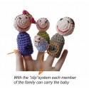 MARIONETTE DA DITA la famiglia cresce FINGER PUPPETS fatto a mano APUNT età 3+