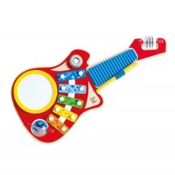 CREA MUSICA 6 IN 1 music maker HAPE gioco in legno STRUMENTI MUSICALI chitarra E0335 da 18 mesi +