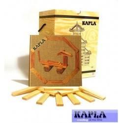 KAPLA box 280 pz. naturali e libro spunti creativi costruzioni in legno