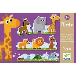Puzzle Djeco DUO PICCOLO E GRANDE 24 pezzi da 3 anni