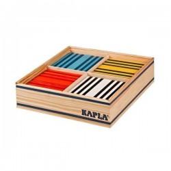 Holzkonstruktionen KAPLA-COLOR-100 Stück in 8 verschiedenen Farben OCTOCOLOR
