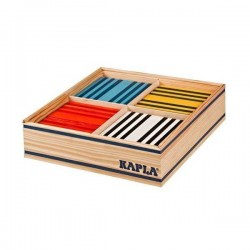 Wooden constructions KAPLA COLOR 100 pieces in 8 different colours OCTOCOLOR