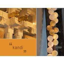 LUCI HAPPY LIGHTS KANDI fila 20 palline colorate in corda con lampadine e spina